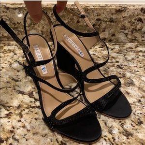 FLASH SALE 🔥 David Tutera Leather Wedge Heels